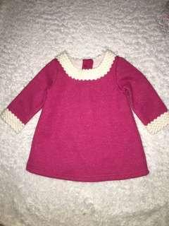 Pink Dress 3/6mos