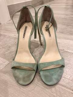 Windsor smith mint green sandal heels