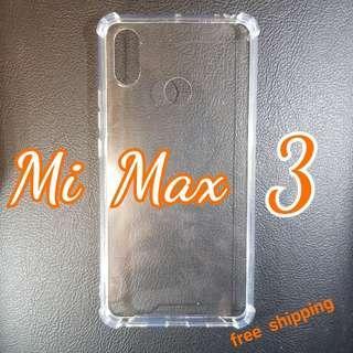 XIAOMI Mi Max 3 Anti Shock Proof Transparent Hard Cover Case