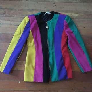 Vintage rainbow jacket / blazer