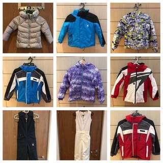 Rent, don't buy - Kids winter jackets and pants, Ski jackets and ski pants
