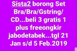 Sale...sale Set Bra/Gstring/CD