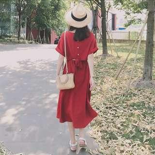CNY appropriate open back dress