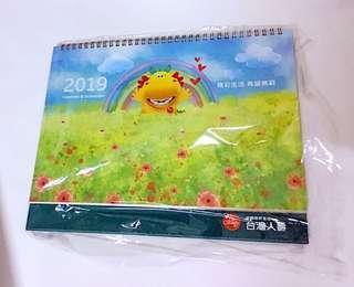 🚚 2019大本三角型桌曆(30*24)