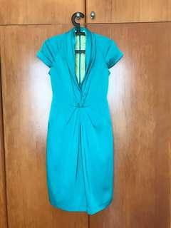 Brand new plunge front green dress