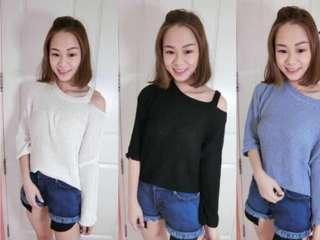 Off shoulder Knit Top