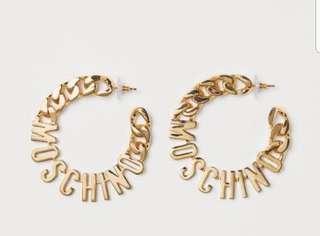 MOSCHINO H&M EARRINGS!