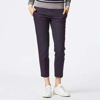 Pants cropped navy uniqlo