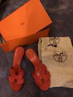 61a4e899ff0e Hermes Oasis Sandals(receipt) 35.5 36