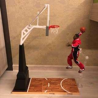 1/6 Scale Basketball Hoop (Storm Toy) and NBA Chicago Bulls Scottie Pippen Figurine