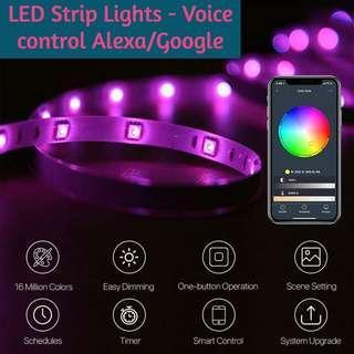 Wifi Strip Lights work with Amazon Alexa Google Home