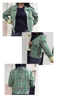 Green Crop Jacket FRERONG