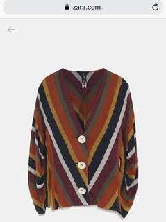 Zara Striped Button up blouse