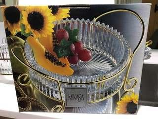 MIKASA Hostess Bowl + covered Butter Bowl
