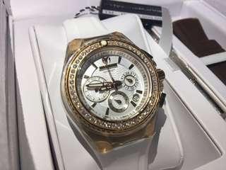 最後一隻  全新 Technomarine Diamond Watch 18k 真鑽石 女裝 手錶 瑞士 1卡鑽石 情人節 聖誕禮物 生日禮物 原價$18000