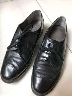 (Preloved) Genuine leather preppy shoes