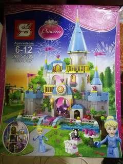Lego liked Cinderella castle bricks