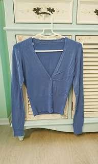 🚚 二手近全新Mango藍紫色針織小外套