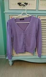 🚚 二手近全新紫色針織小外套