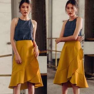 Fashmob Winston Skirt in Mustard