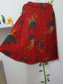 Rok batik model payung
