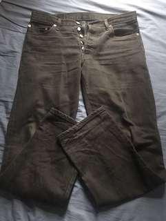 Classic Levi's 501 Black Jeans 絕版洗水牛