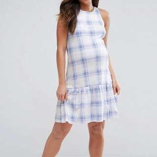 (New) Maternity drop hem dress