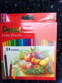 飛龍Pentel色鉛筆CB8-24T/24色/盒