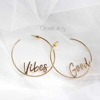 Vibes Good Earring & Necklace set