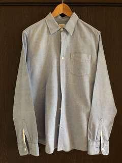 GAP Men Size M Linen Shirt, Blue Color