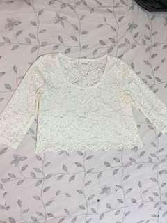 Monki lace crop top