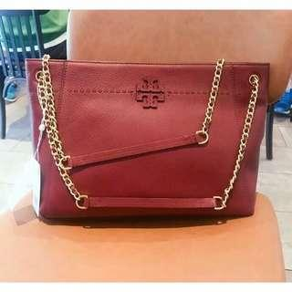 Tory burch t stacked mcgraw tote bag