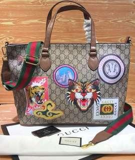 Gucci patches tote bag