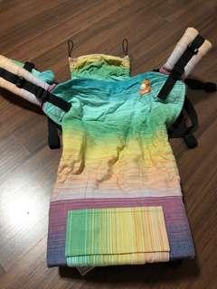 TULA Toddler Wrap Conversion Full - Girasol Coronado Tinte Azul Weft