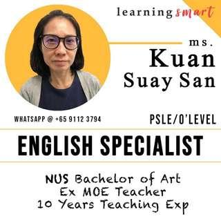English Tuition by Ex MOE school teacher