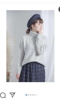 淺灰棉花糖軟綿綿質感羊絨樽領上衣knit