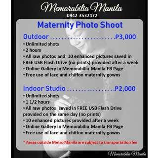 Maternity Studio Photo Shoot Service (Indoor or Outdoor)