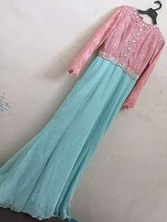 Long dress with payyet