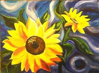 🌻Sunflowers painting