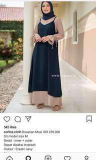 Rosalian maxi by corliss cloth