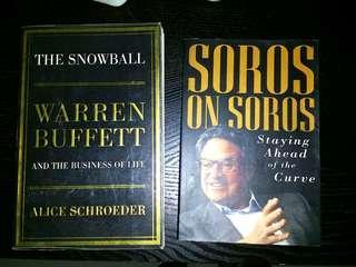 Warren Buffet The Snowball and Soros on Soros