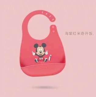 Disney Baby Bib Red Mickey