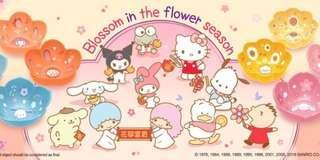 7-11 Sanrio Characters 花雨花語 花形陶瓷碗 一套