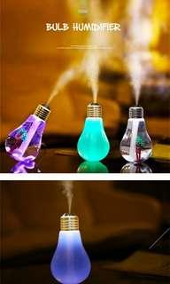 USB 6 Color Change Lamp Bulb Humidifiers Aroma LED Air Diffuser USB Purifier (Silver)