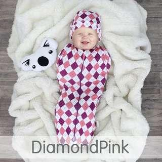 Super Easy Instant Zip Swaddle Diamondpink