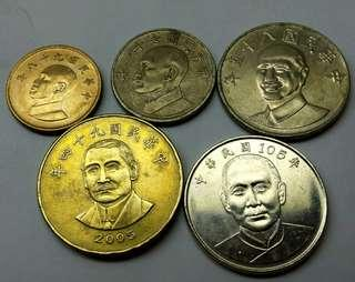 Coins from Taiwan