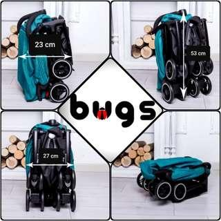 Small Cabin Approved Full Recline Bugs Stroller