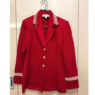 St. John 紅色單外套