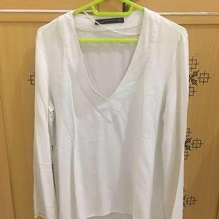 ZARA WOMAN WHITE BLOUSE #onlinesale