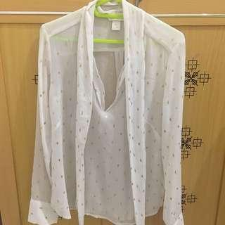 H&M BLOUSE GOLD DIAMONDS #onlinesale
